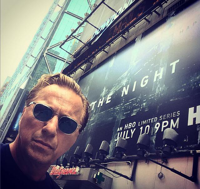 """Jeff Wincott - Times Square-NYC- """"The Night Of """" on HBO billboard"""
